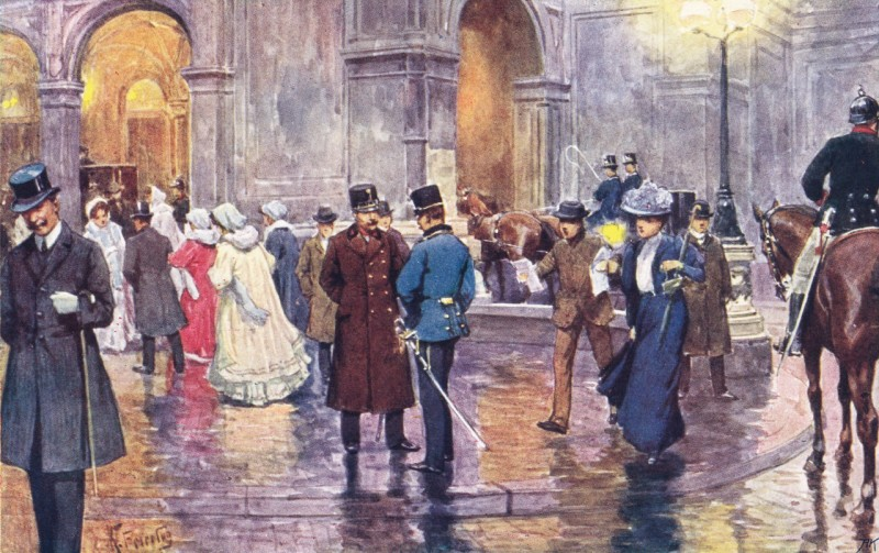 Возле Оперы, 1900 год