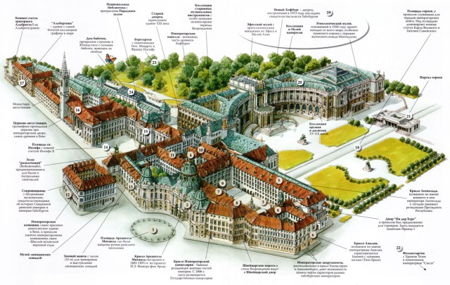 Карта Вены Хофбург