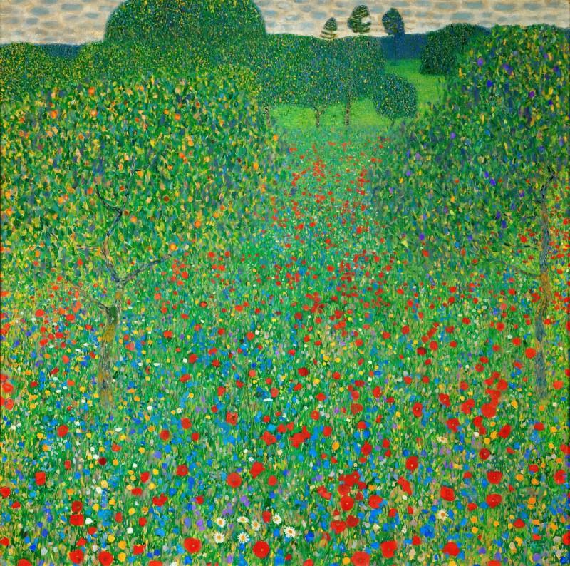 Маковое поле, Густав Климт