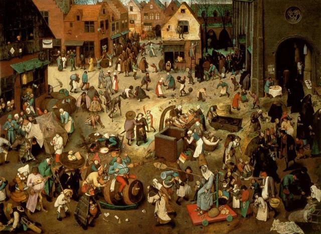 """""""Битва Масленицы и Поста"""" Питер Брейгель, 1559"""