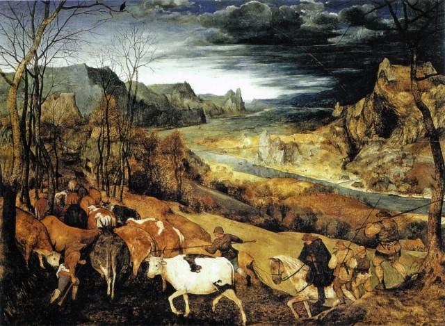 """""""Возвращение стада"""" Питер Брейгель, 1565"""