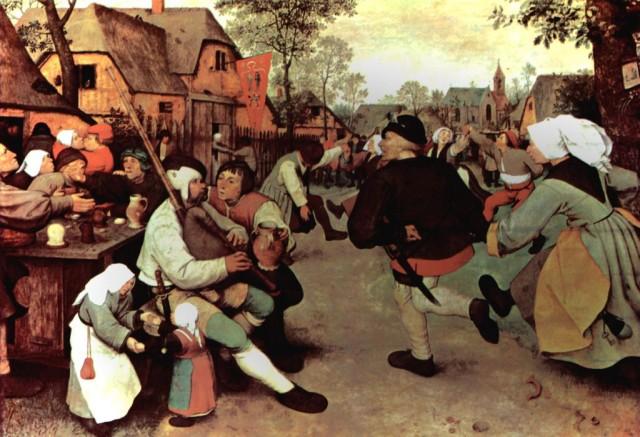 """""""Крестьянский танец"""" Питер Брейгель, 1568"""