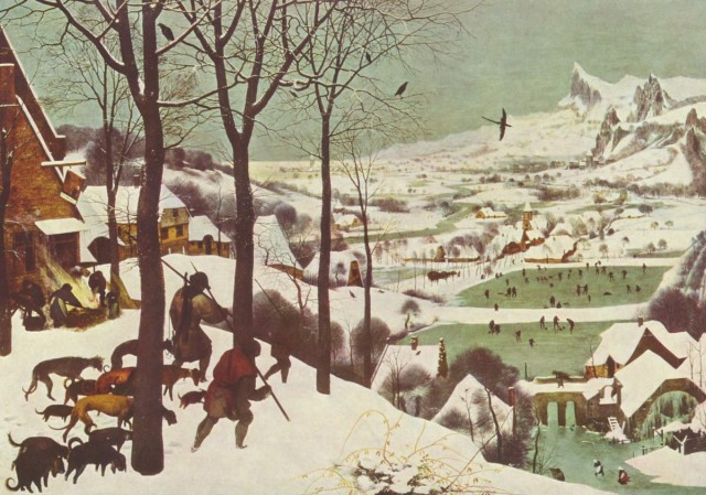 """Питер Брейгель """"Охотники на снегу"""""""