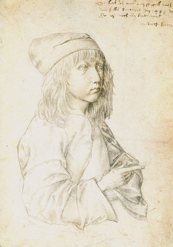 Дюрер. Автопортрет (1484) Альбертина в Вене