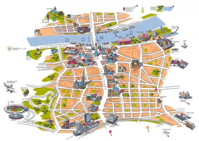 Карта Линца