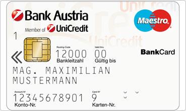 Оплата банковской картой в Вене