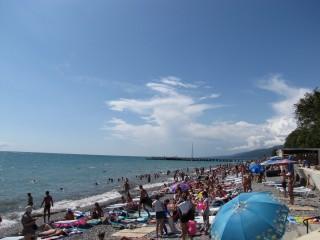 Пляжи поселка Лазаревское