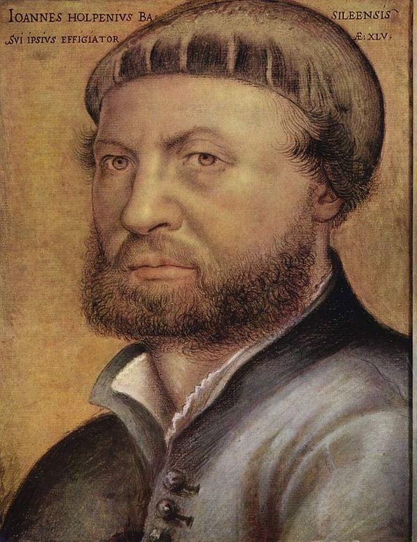Ганс Гольбейн Младший Автопортрет, 1542, Галерея Уффици, Флоренция