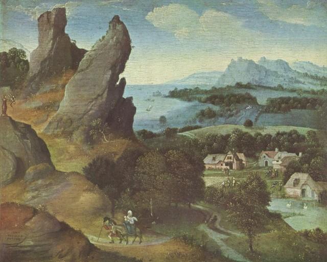 Иоахим Патинир Бегство в Египет (1515-1524гг.) Королевский музей изящных искусств, Антверпен