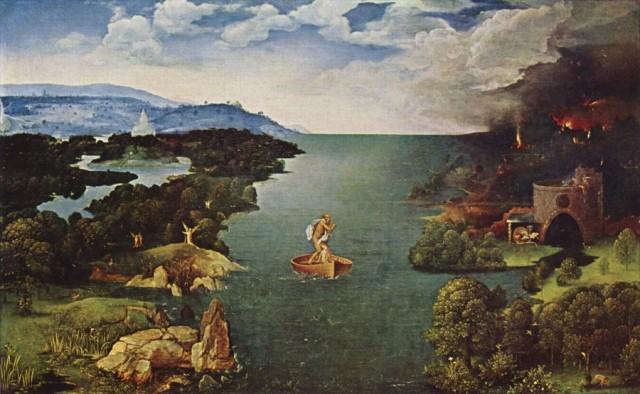 Иоахим Патинир «Пейзаж с Хароном» (1515-1524гг.) Прадо, Мадрид