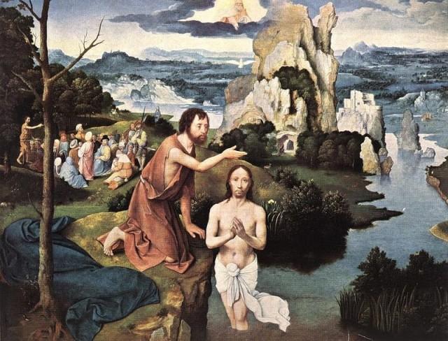 """Иоахим Патинир """"Крещение Христа"""" (1515-1524гг.) Художественно-исторический музей, Вена"""