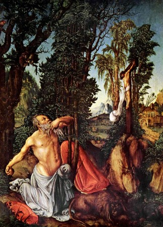Лукас Кранах Старший  «Покаяние святого Иеронима» (1502-1503 гг,) Вена, Музей истории искусств