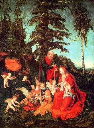 Лукас Кранах Старший «Отдых на пути в Египет» (1503 г, Мюнхен)