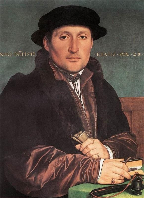 Ганс Гольбейн Младший Портрет молодого человека (1541г.) Музей истории искусств, Вена