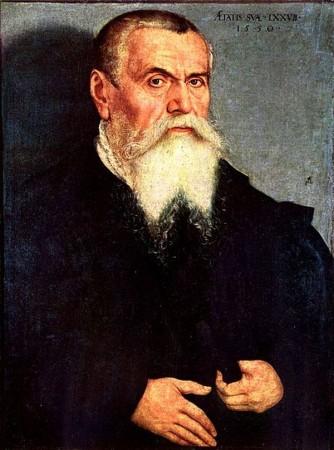 Л.Кранах. Автопортрет 1550 г., Галерея Уффици, Флоренция