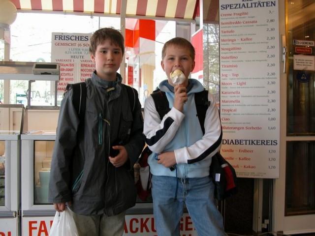 Кафе-мороженое на площади Шведенплац (Eissalon am Schwedenplatz)