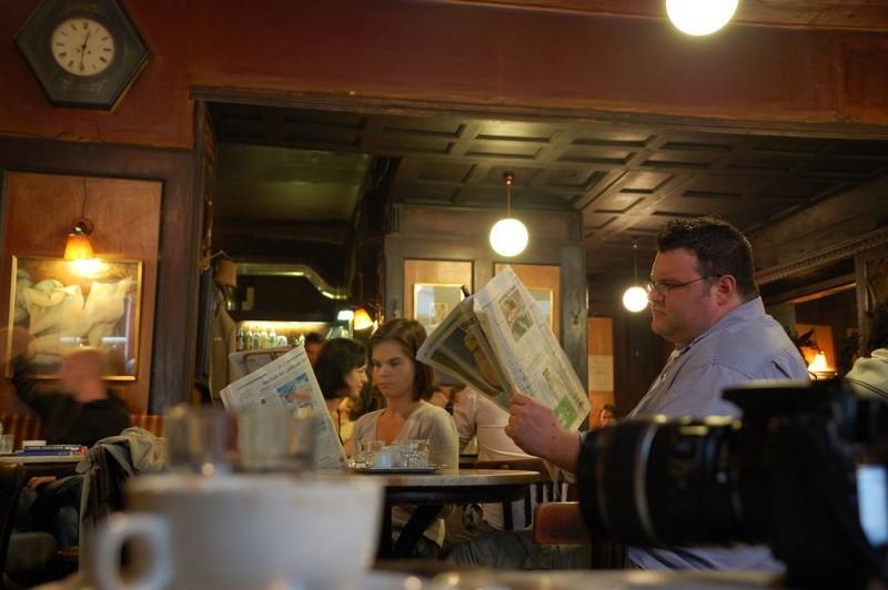 В зале кафе «Гавелка»