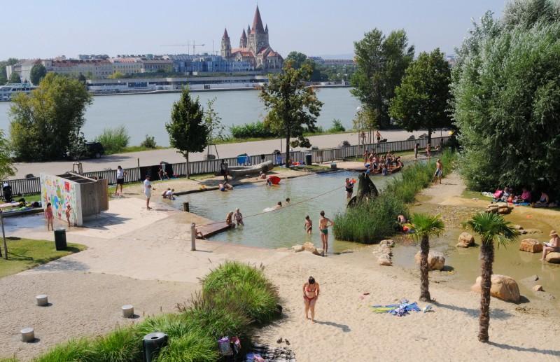 Пляж на Дунайском острове