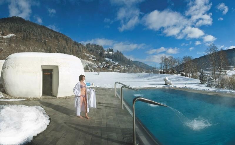 Зимние купания в Бад Кляйнкирххайм (Bad Kleinkirchheim)