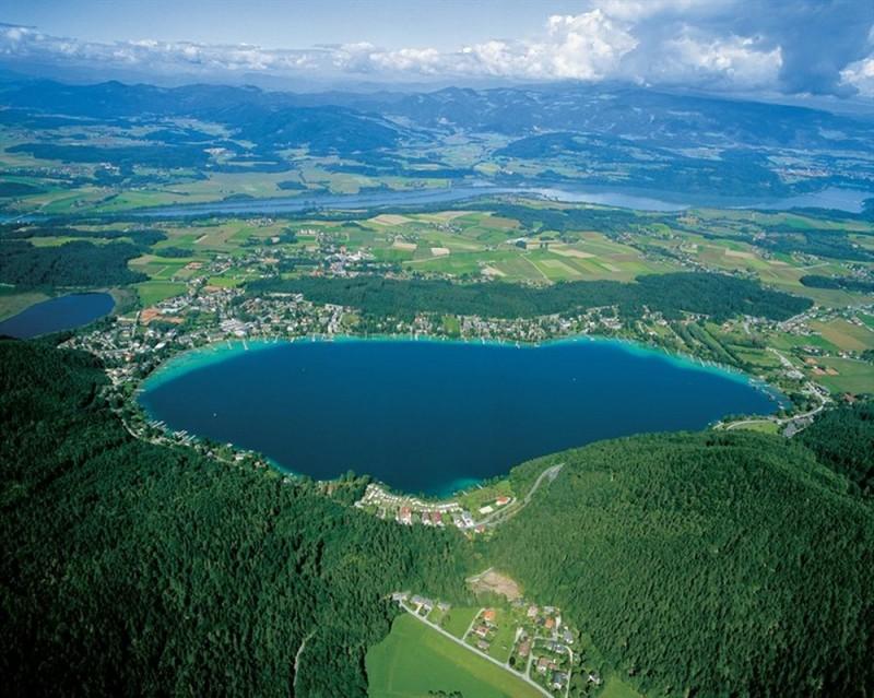 Озеро Клопайнер-Зее в высоты