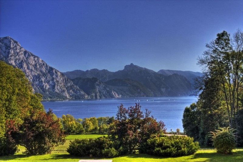 Озеро Траунзее (Traunsee) Австрия