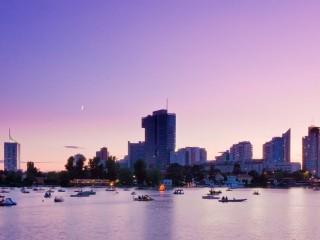 Дунай во Вене — поприще отдыха