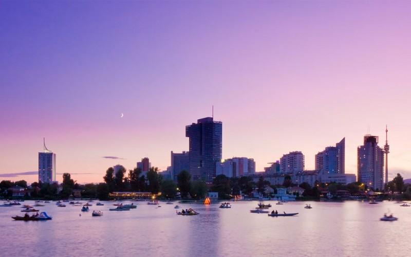 Дунай в Вене — место отдыха