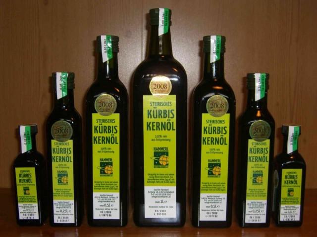 Тыквенное масло  Kürbiskernöl, что привезти из Вены