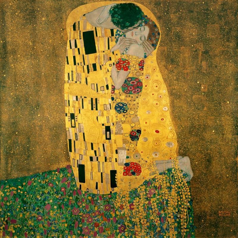 """Густав Климт """"Поцелуй"""", 1907—1908"""