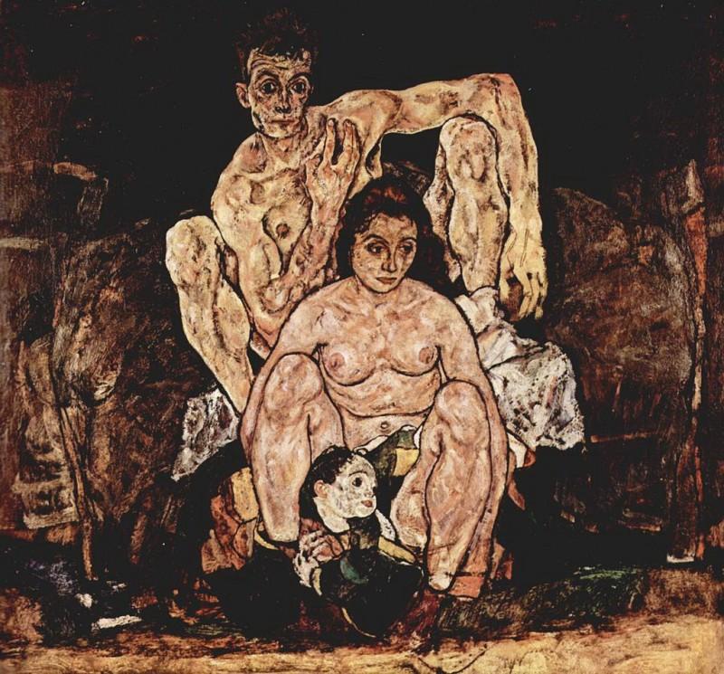Эгон Шиле. Семья. 1918 г.