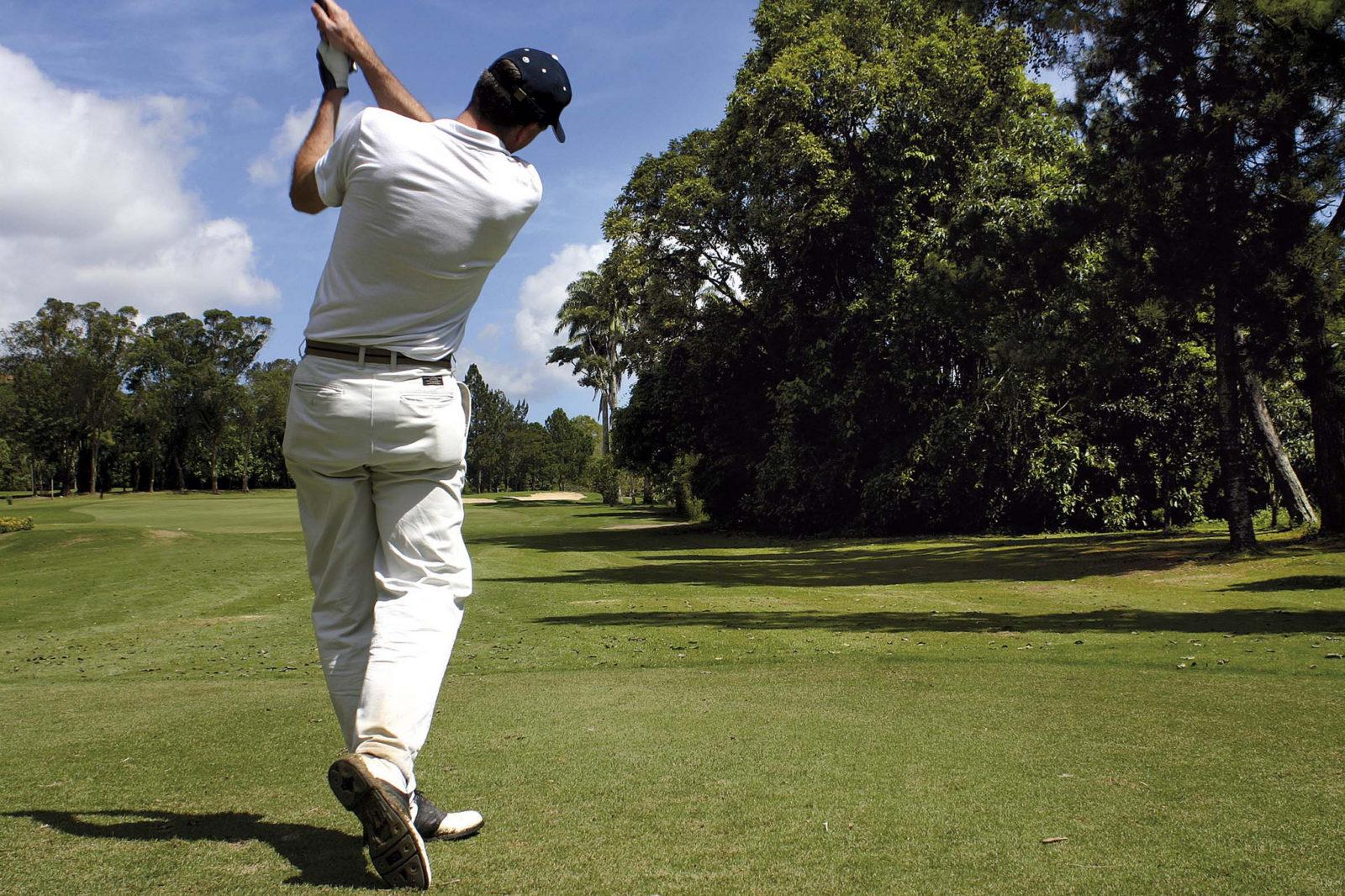 На поле для гольфа