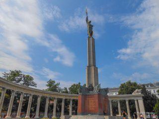Памятник советским воинам, погибшим возле освобождении Австрии с фашизма получи Шварценбергплац