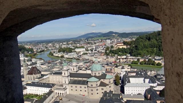 Зальцбург. Вид на Старый город и Кафедральный Собор