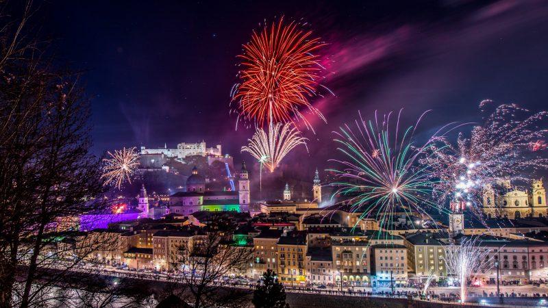 Новогодний фейерверк в Зальцбурге