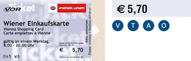 Wiener Einkaufskarte на 1 рабочий день
