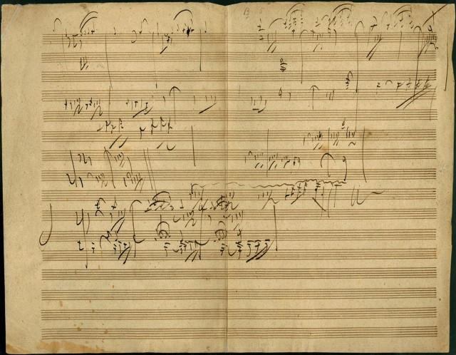 Черновик сонаты для фортепиано
