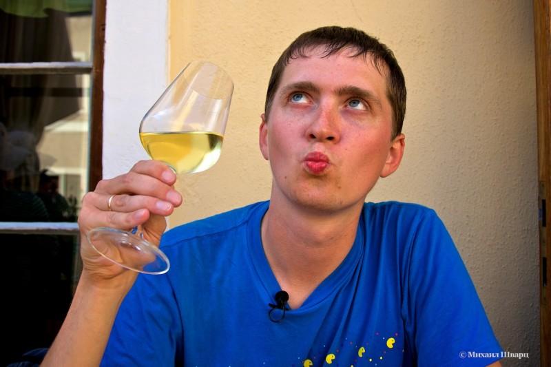 Я дегустирую белое вино