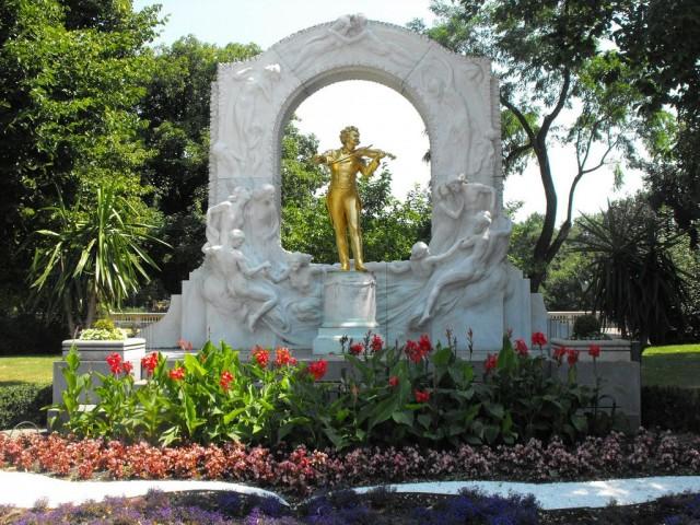 Памятник Штраусу в Венском городском парке