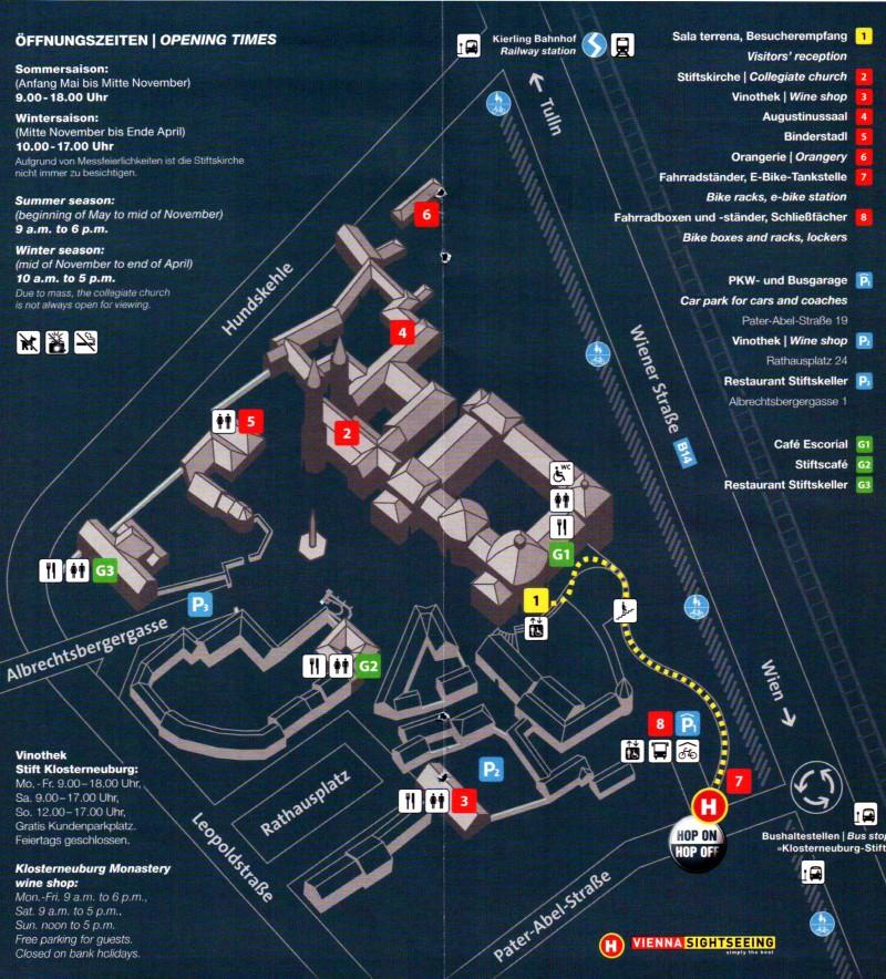 План монастыря Клостернойбург