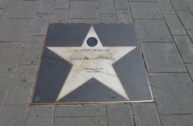 Звезда Густава Малера около Венской оперы