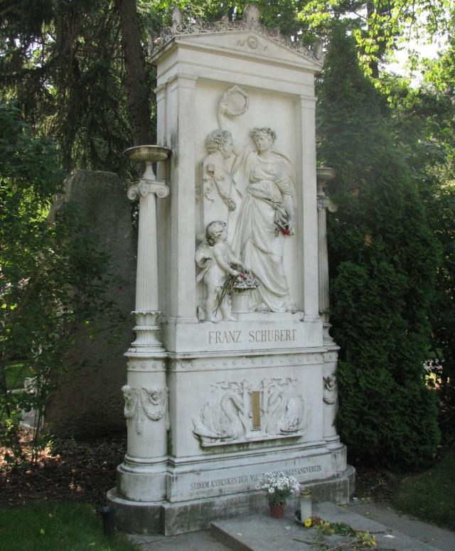 Могила Шуберта на венском Центральном кладбище