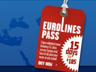 Проездной Eurolines Pass – 51 город Европы за €250