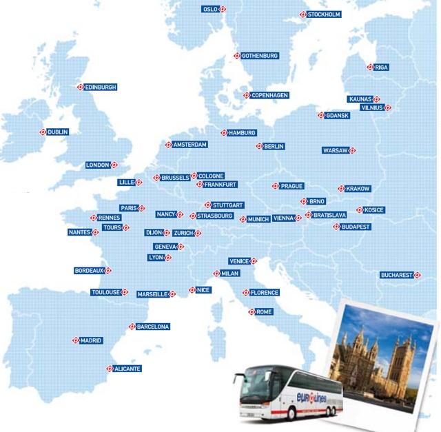 Маршруты eurolines