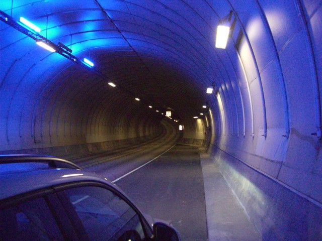 Норвегия, туннель, 27км-к Бергену