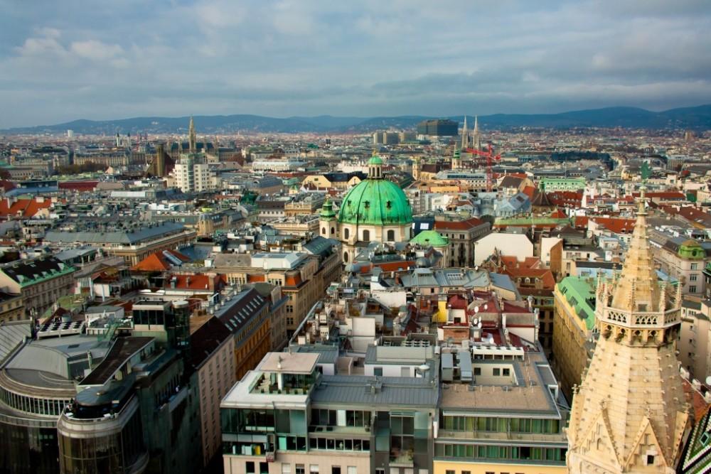 Панорама Вены с Южной башни