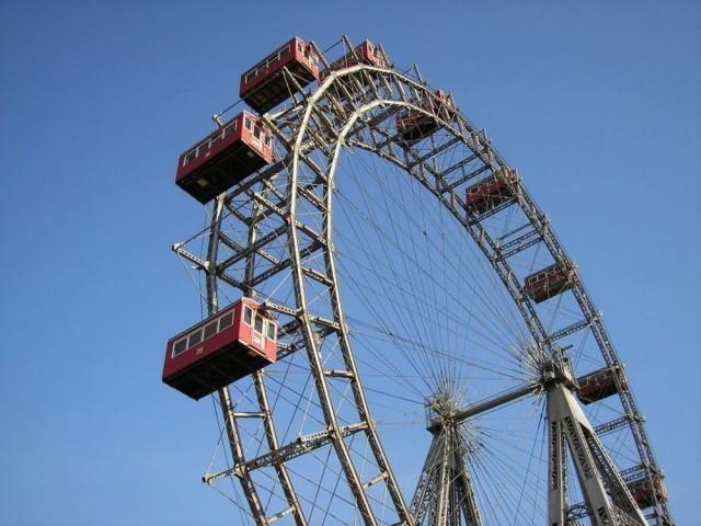 Колесо обозрения Riesenrad в парке Пратер