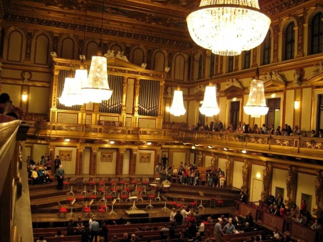Wiener Musikverein – Золотой зал. Фото в антракте