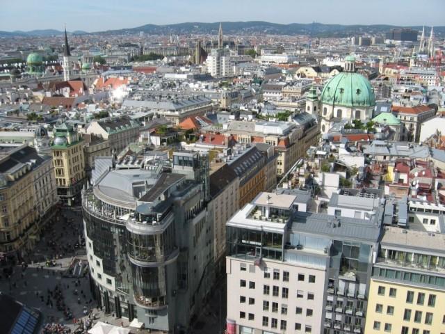 Вид с южной башни Штефансдома