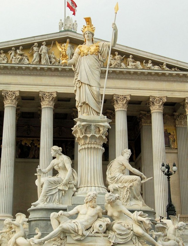 Cкульптурная композиция Афины-Паллады с фонтаном