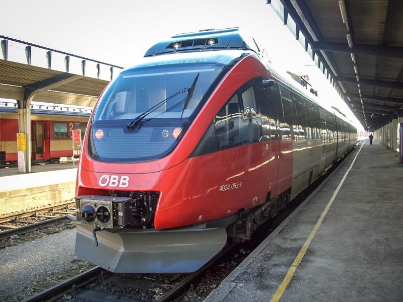 Из Братиславы до Вены на поезде